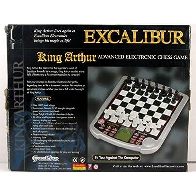 Excalibur King Arthur Advanced Electronic Chess Game: Toys & Games
