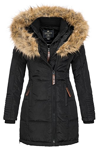 Geographical Norway Veste Dames Parka d'hiver Belissima XL-Fellkapuze