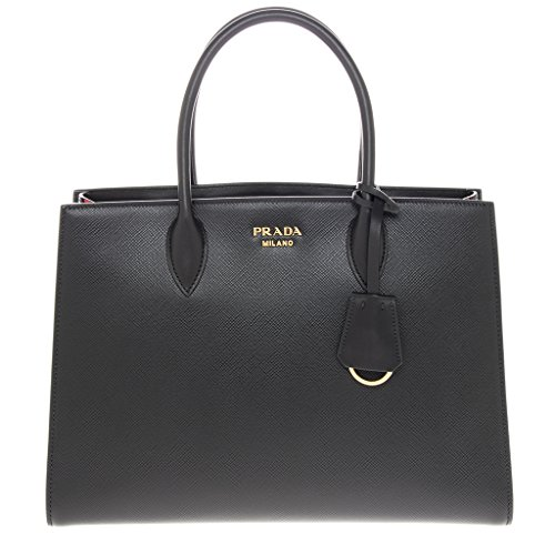 Prada-Womans-Bibliotheque-Saffiano-Leather-Bag-Black