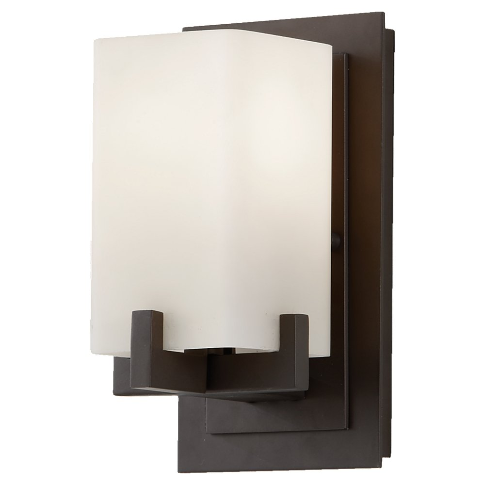 Feiss VSORB Riva Glass Wall Vanity Bath Sconce Lighting - Bathroom sconce lighting oil rubbed bronze
