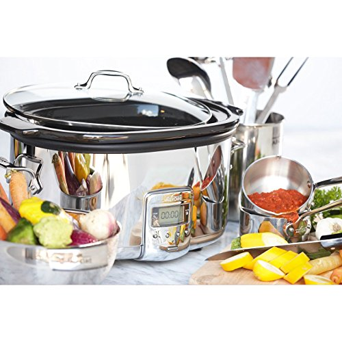 All Clad Sd710851 Slow Cooker With Black Ceramic Insert