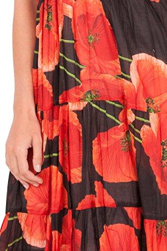 Poppy Pistachio Verano Floral Cruzado de Red el Dama Frontal con Vestido para PAqRBwztx