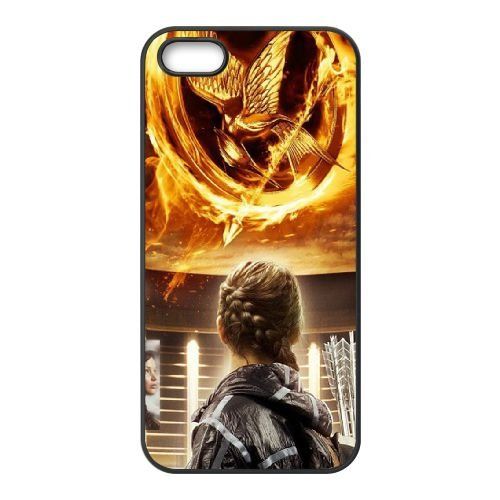 Hunger Games coque iPhone 4 4S cellulaire cas coque de téléphone cas téléphone cellulaire noir couvercle EEEXLKNBC25862