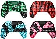 gitete Pop Push its Game Controller Gamepad Shape Pop Push tie dye Bubble Sensory Fidget Toy Autism Special Ne