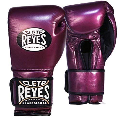 (Cleto Reyes Hook & Loop Training Gloves - Regular Padding - Purple 14-Ounce )