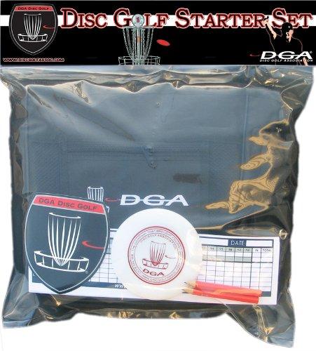 Disc Golf Starter Set - Bag and Discs by DGA, Black starter bag by DGA