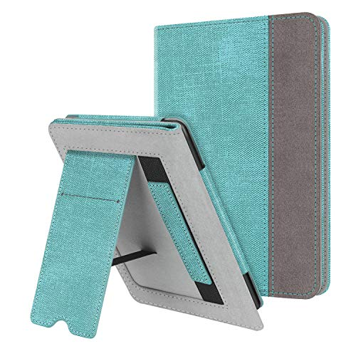 Fintie Stand Case for Kindle Paperwhite (Fits All-New 10th Generation 2018 / All Paperwhite Generations) - Premium PU Leather Protective Sleeve Cover with Card Slot and Hand Strap