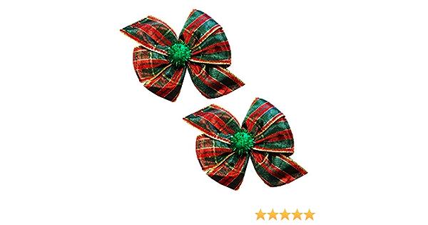 Plaid Dog Bow Tartan Girl Bow clip Nylon Headband Bow Pet Bows Alligator Clip Bows Plaid Girl Bows Flannel Hair Bow