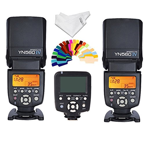 Yongnuo YN-560IV 2PCS Wireless Flash Speedlite kit + YN560-TX LCD Flash Trigger Remote Controller For Canon DLSR Cameras by Yongnuo