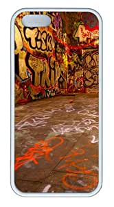 Apple iPhone 5S Cases - Graffiti room TPU Case Cover for iPhone 5S and iPhone 5 - White