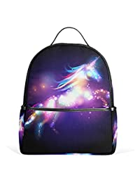 JSTEL Unicorn Magic With Stars School Backpack 4th 5th 6th Grade for Boys Teen Girls Kids