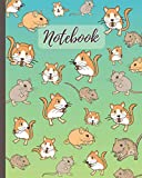 Notebook: Cute Gerbils Cartoon Cover (Volume 2) - Lined Notebook, Diary, Track, Log & Journal - Cute Gift for Boys Girls Teens Men Women (8'x10' 120 Pages)