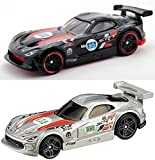 Viper Speed Silver + Black Hot Wheels Pack HW Race series 2015 Dodge SRT Viper GTS-R World Race Set in PROTECTIVE CASES