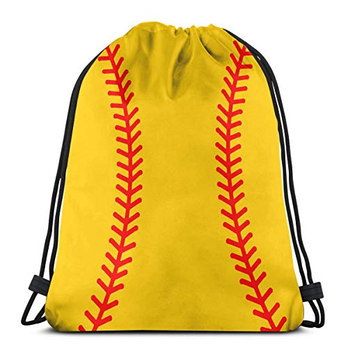 Baseball Stitches Softball Drawstring Bags Gym Bag Backpack Shoulder Sackpack ()