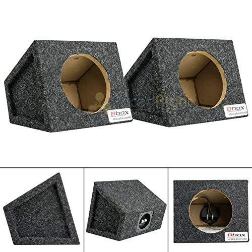 "6.5"" Car Speaker Box Universal Enclosure Sealed w/Terminals Atrend 6.5PR Pair"