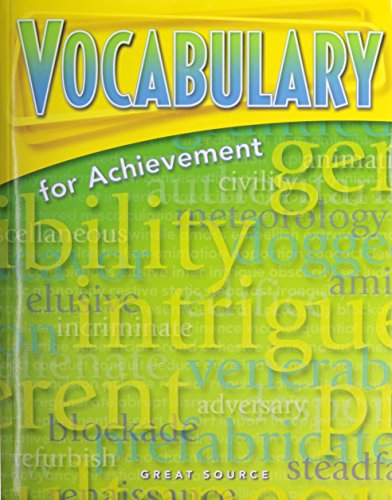 Great Source Vocabulary for Achievement: Student Edition Grade 8 Second Course 2006