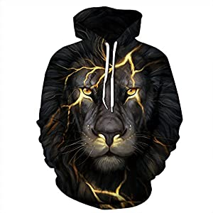 GOPOSUN 3D Graphic Printed Hoodies for Men,Women, Unisex Pullover Hooded Shirts