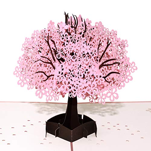 Baoby Jacaranda 3D Pop Up Handmade Greeting Card, spring card, birthday card,card for love