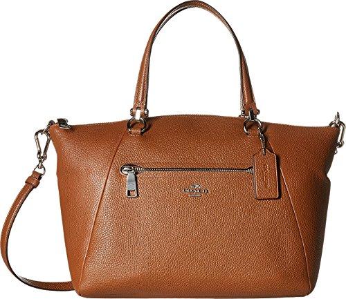 Coach Women's Prairie Satchel Bag, Silver, Saddle, OS by Coach