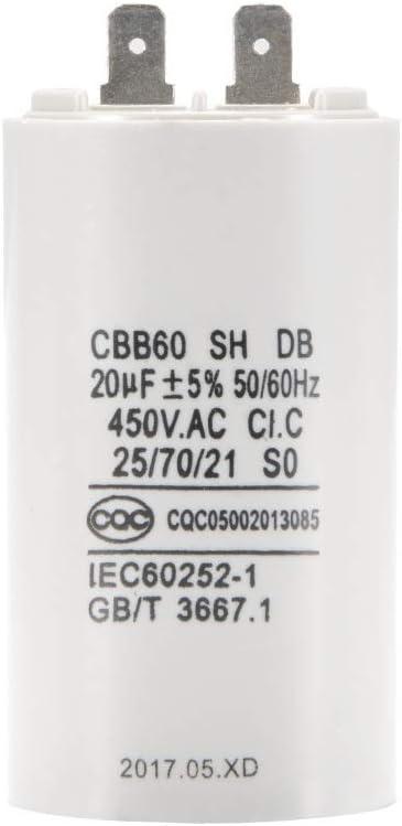 60Hz 20uF Kapazität HS1238 Elektromotor starten Laufkondensator 450V AC 50