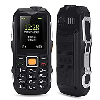 fo sa Senior Cell Phone, Dual SIM Dual Standby Cell Phone, Wearable 5800 mAh Mobile Seniors Mobile Phone with Strong Flashlight/Large Speaker/Big Buttons/Long Standby Time(US Plug)