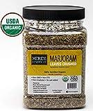 Organic Marjoram Leaves - USDA Certified in wide mouth Jars 3.2oz/ 91g