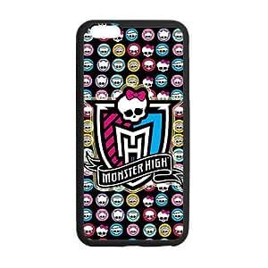 LeonardCustom- Cartoon Monster High Protective TPU Rubber Gel Coated Cover Case for iPhone 6 Plus 5.5 inch [Black / White] -LCI6PU533