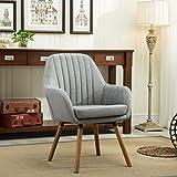 Grey Accent Chair Roundhill Furniture Tuchico Contemporary Fabric Accent Chair, Gray, Chair, Gray