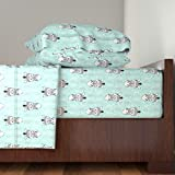 Roostery Zebra 4pc Sheet Set Zebra Head - Blue by Dasha Aleks King Sheet Set made with