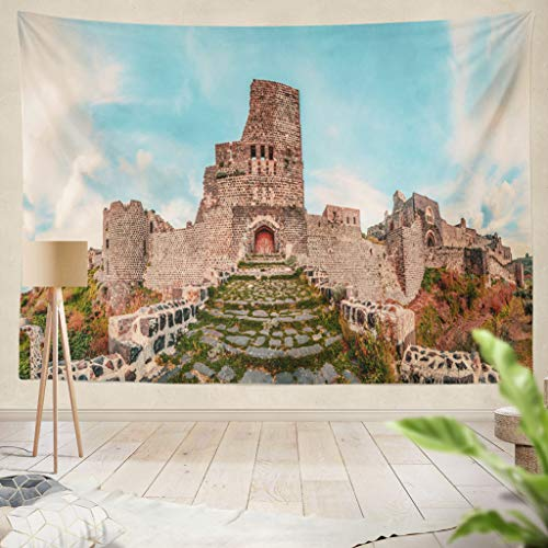 (ONELZ Decor Collection,Marqab Castle Near Baniyas Latakia Bedroom Living Room Dorm Wall Hanging Tapestry 60
