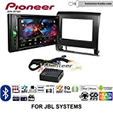 Volunteer Audio Pioneer AVH-201EX Double Din Radio Install Kit with CD Player Bluetooth USB/AUX Fits 2012-2015 Toyota Tacoma with Amplified System