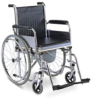 Amazon.com: MedMobile 3 in 1 Self Transport Wheelchair, Commode ...