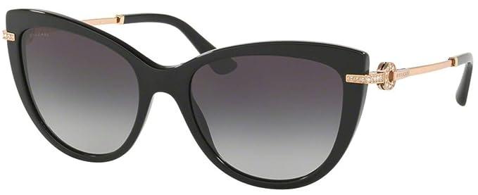 Amazon.com: Gafas de sol Bvlgari BV 8218 B 501/8G NEGRO ...