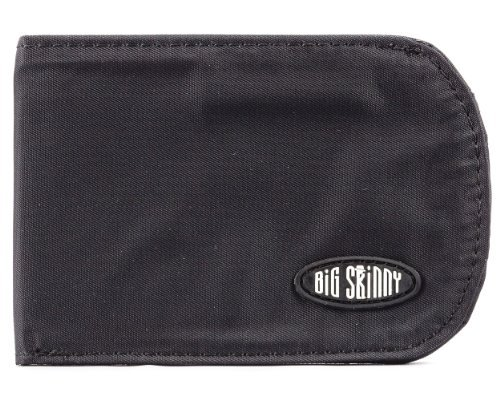 Big Skinny Men's Curve Bi-Fold Slim Wallet, Holds Up to 20 Cards, Black