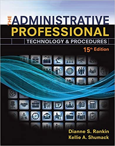 Amazon the administrative professional technology procedures the administrative professional technology procedures spiral bound version 15th edition kindle edition fandeluxe Gallery