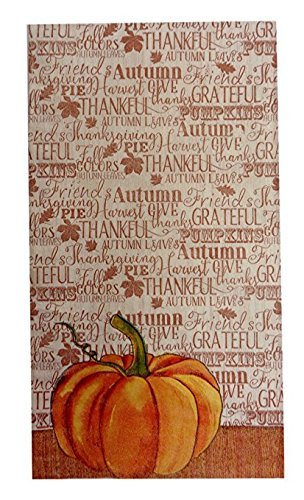 Thanksgiving Pumpkin Harvest Paper Guest Towels / Dinner Napkins 14 count