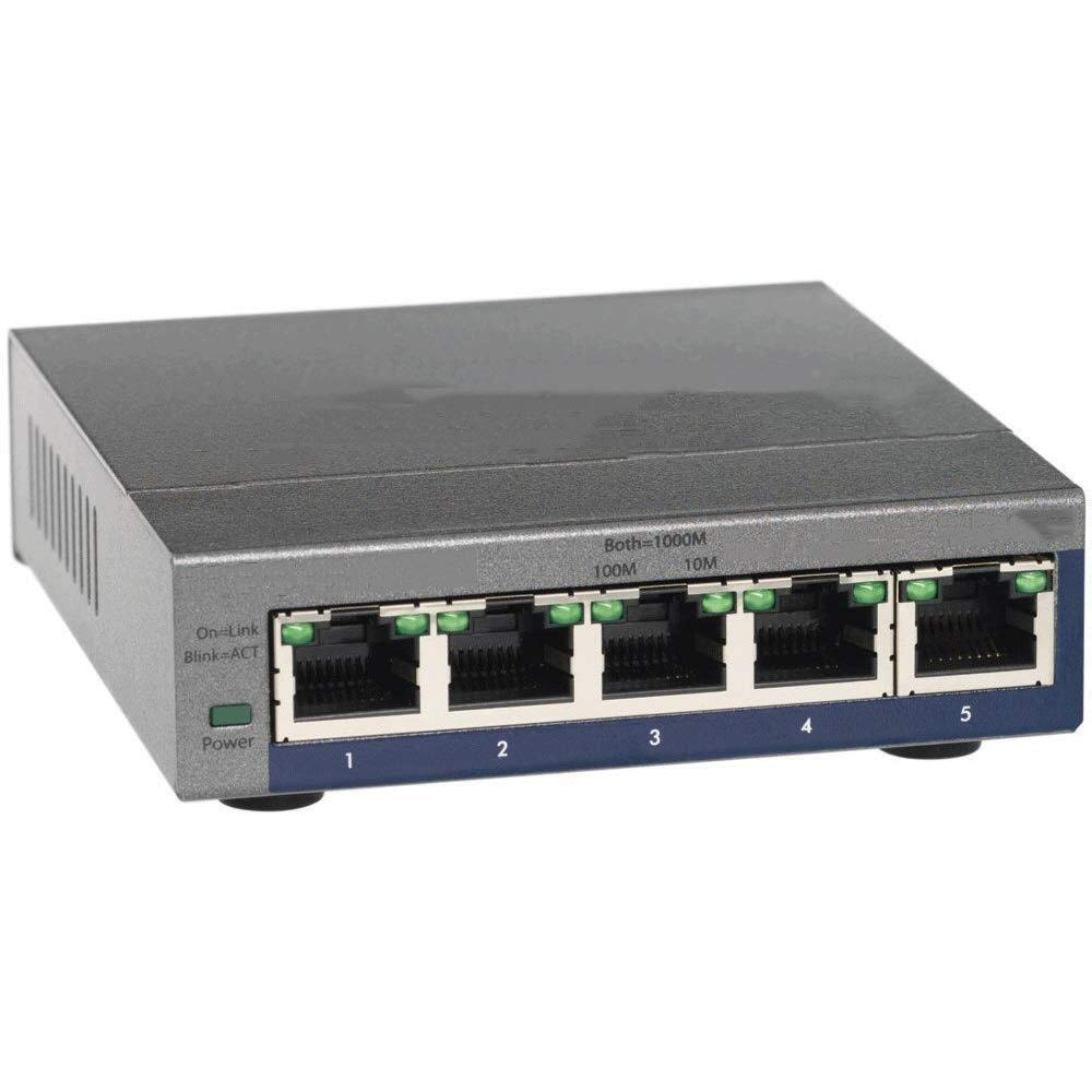 Gigabit Ethernet Network Switch Network Cable Splitter 5-Port Rail Type Ethernet Network Switch