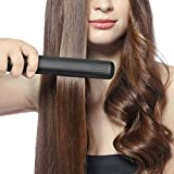 SHINE HAI Professional Ceramic Titanium Ionic Flat Iron Hair Straightener 1 Inch Dual Voltage 100 240V Support Support 250F To 450F Black