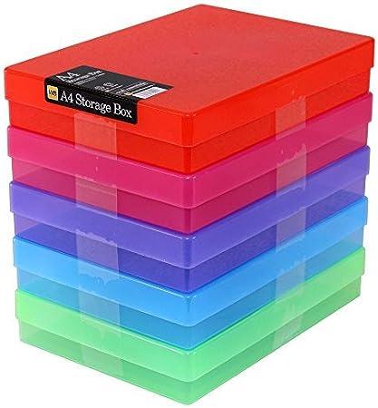 WestonBoxes - Caja de almacenamiento A4 para papel A4 y manualidades