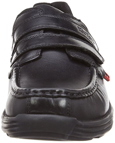 Kickers Reasan Sangle Mens Chaussures En Cuir Noir 42