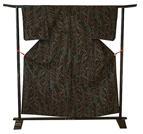 内部幸運な専ら博多着物市場 きものしらゆり 夏物 夏塩沢紬 正絹 未使用 仕付糸付 148cm~154cmの方に最適