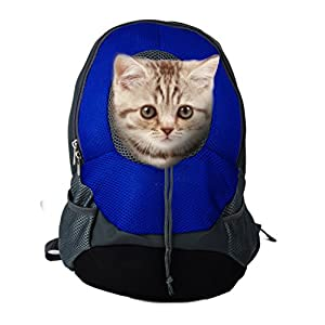 Pet Carrier Backpacks Adjustable Dogs Cats Breathable Oxford Travel Carriers for Walking, Hiking, Bike and Motorcycle (S… Click on image for further info.