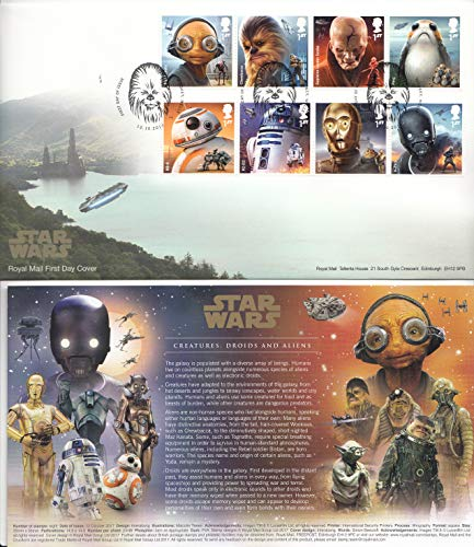 (Star Wars The Last Jedi - First Day Cover Collectible Postage Stamps)