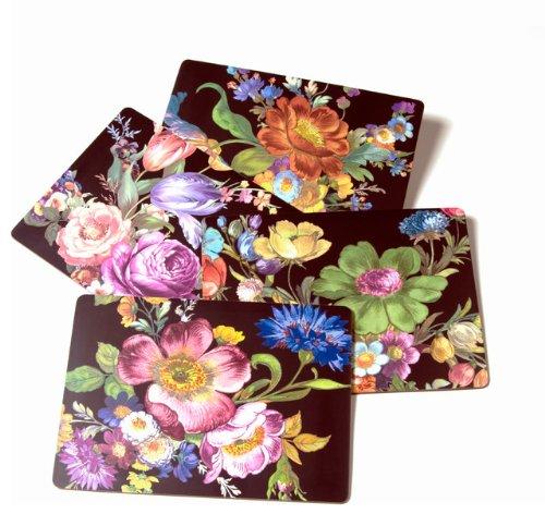 MacKenzie-Childs Flower Market Placemats - Black 12
