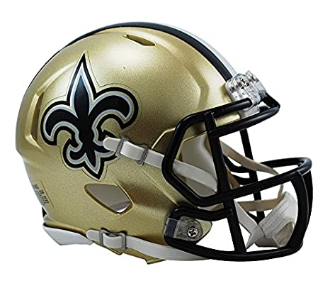 a6a9924634f Amazon.com   Riddell New Orleans Saints NFL Replica Speed Mini Football  Helmet   Football Helmets   Sports   Outdoors