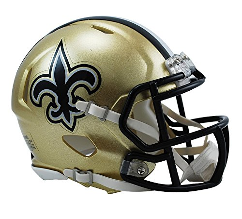 New Orleans Saints Replica Helmet - Riddell New Orleans Saints NFL Replica Speed Mini Football Helmet