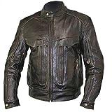 Xelement B7496 'Bandit' Men's Retro Brown Advanced Level-3 Distressed Buffalo Leather Motorcycle Jacket - Large