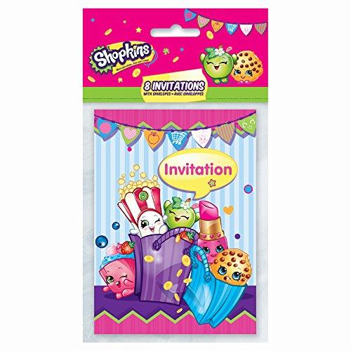 [Shopkins Party Invitations, 8ct] (Childrens Costume Party Invitations)