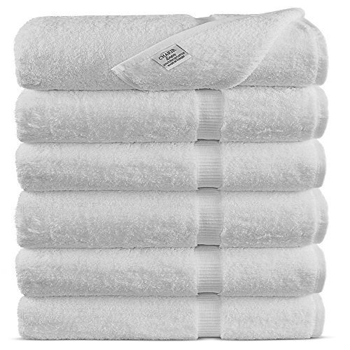 Premium Long-Stable Turkish Cotton-Eco Friendly 6-Piece Washcloths (White)