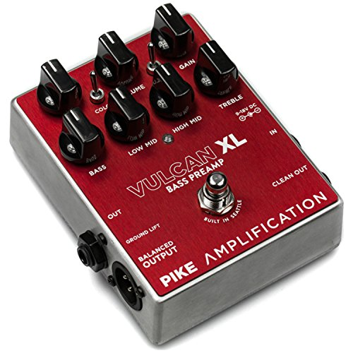 Pike Amplification Vulcan XL Bass Overdrive/Distortion Preamp Pedal by Pike Amplification